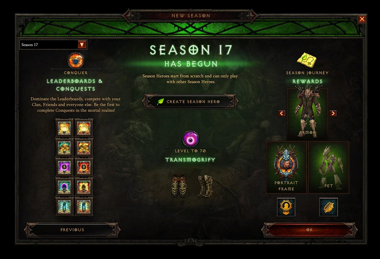 Diablo III - Дата начала 17-го сезона