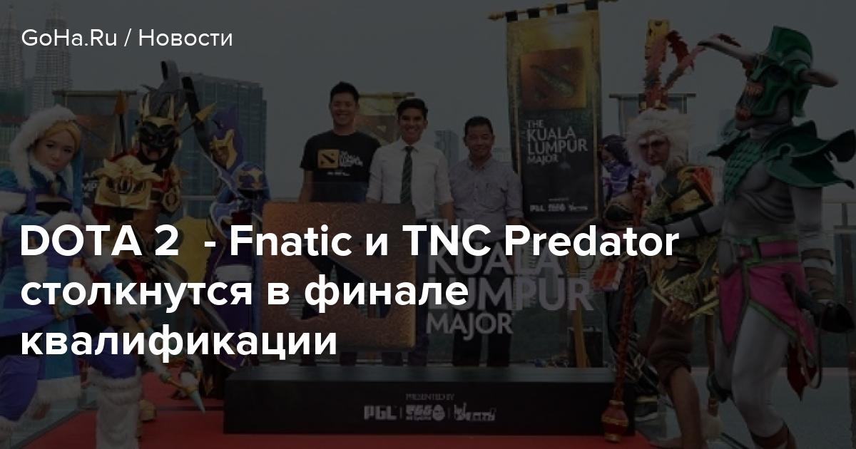 DOTA 2 - Fnatic и TNC Predator столкнутся в финале квалификации