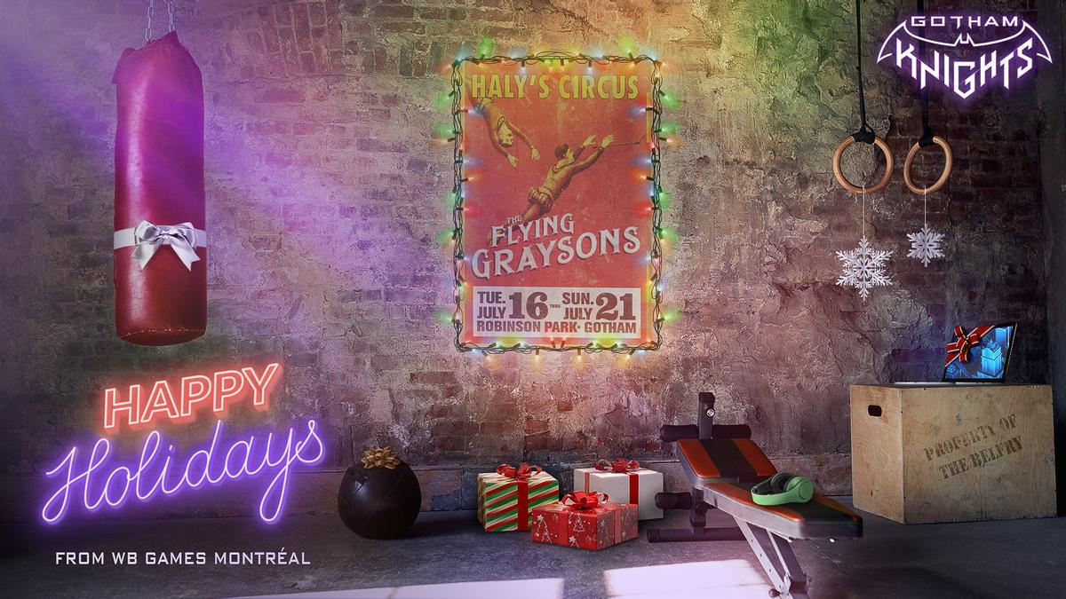 Gotham Knights - Рождественская открытка тизерит некое событие