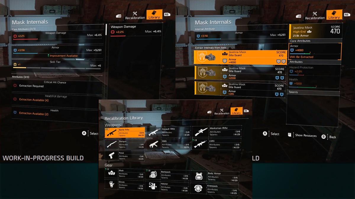 The Division 2 - переработка рекалибровки и новая система Skill Tier