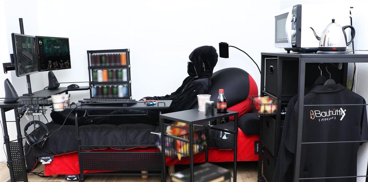 Геймерские кресла - прошлый век. Встречайте геймерскую кровать от японской Bauhütte
