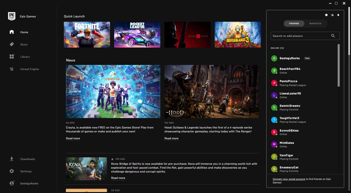 В Epic Games Store добавят карточки игроков и голосовые групповые чаты