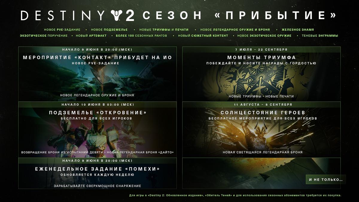 Destiny 2 - контент 11 сезона и первые впечатления