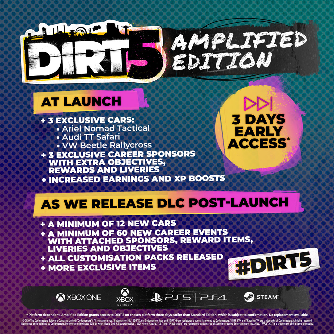 DiRT 5 - На август запланировано нечто интересное