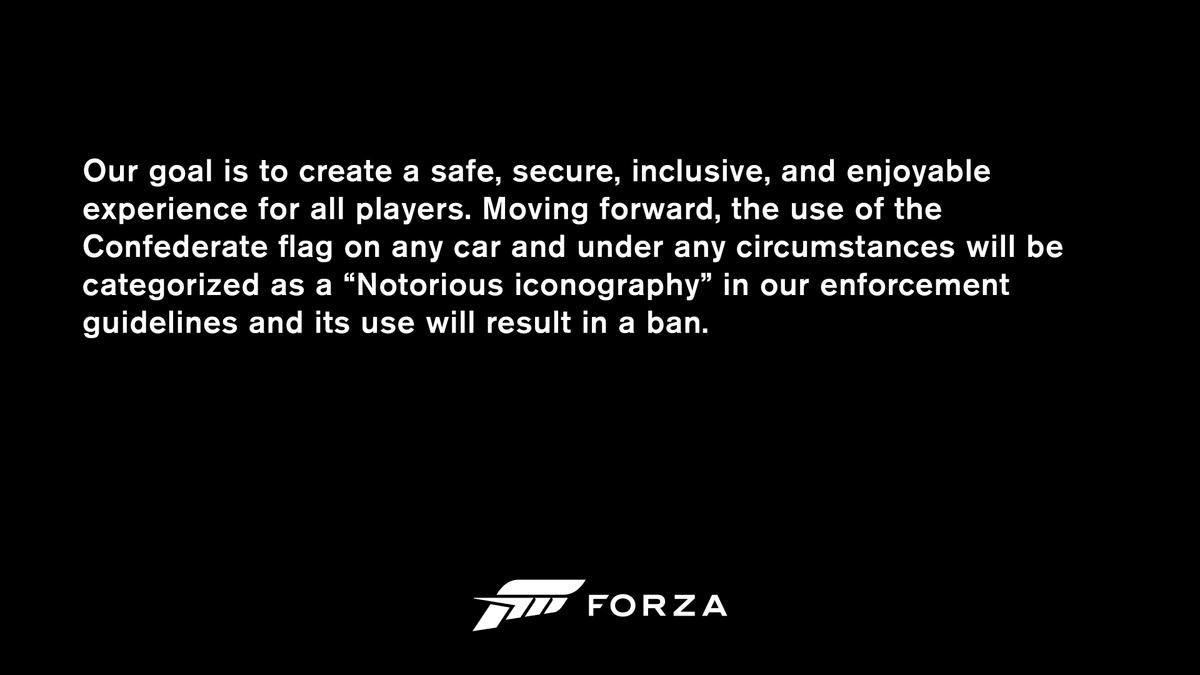 Разработчики серии Forza ужесточили борьбу с расизмом