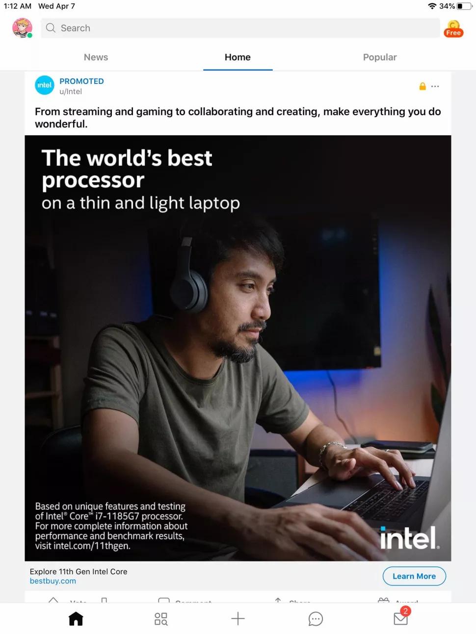 Intel рекламирует процессоры Tiger Lake с помощью изображений MacBook Pro, в котором их не бывает