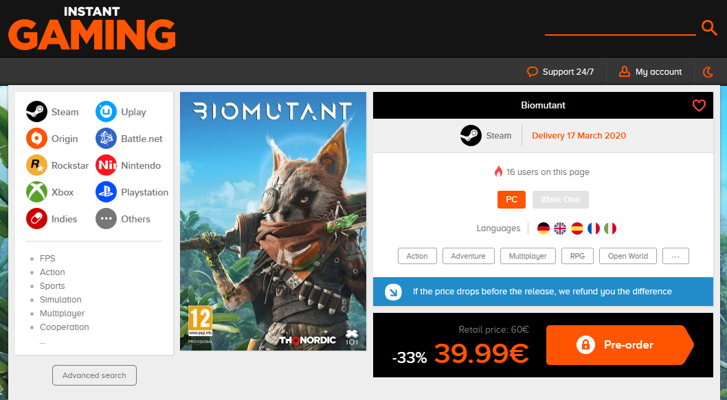 Слух: Biomutant - Возможная дата выхода ПК-версии игры