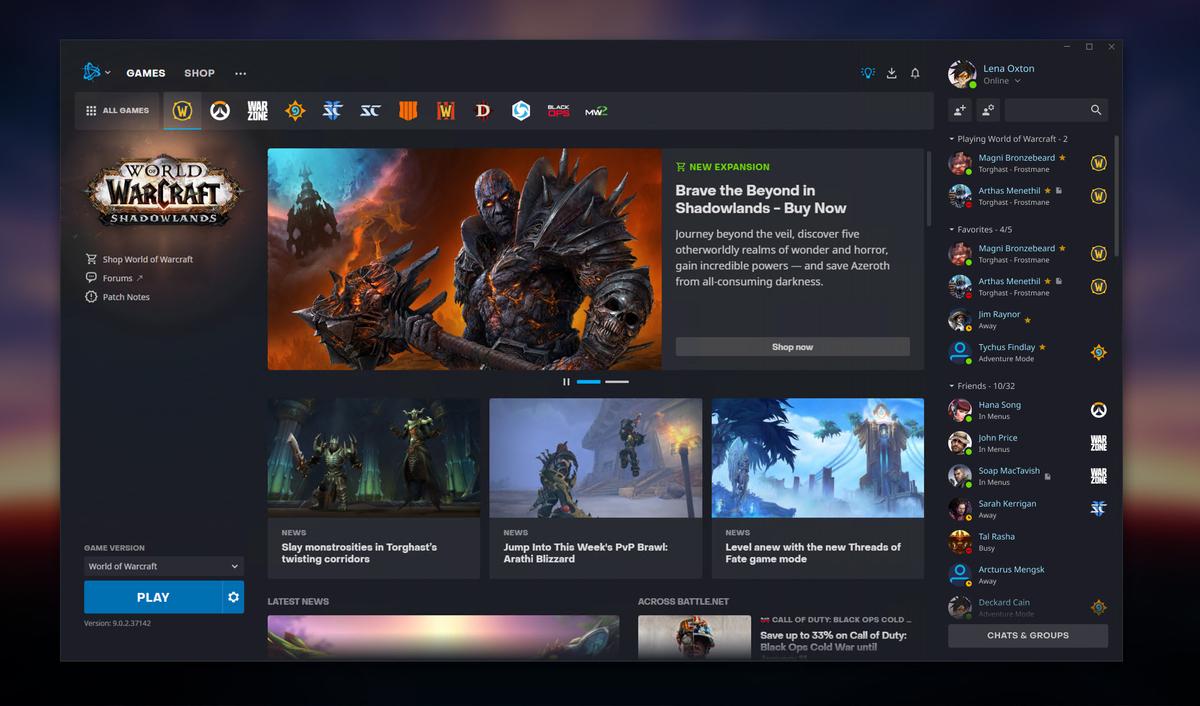 Представлен обновленный интерфейс для приложения Battle.net