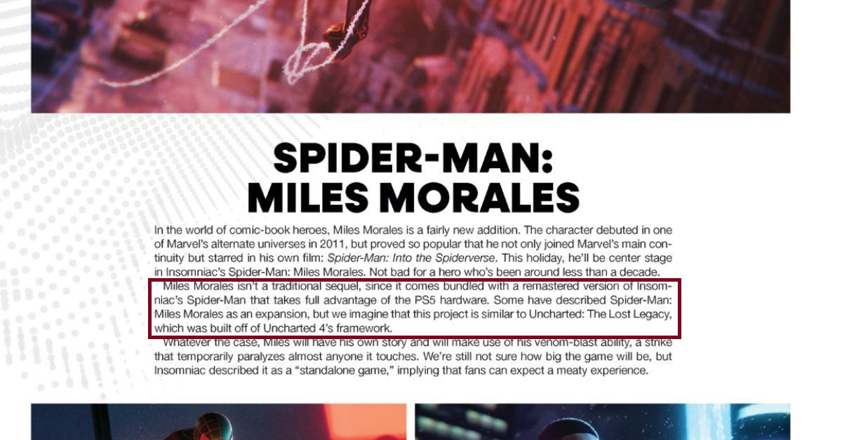 Слухи Вместе с Marvels Spider-Man Miles Morales на PlayStation 5 выйдет ремастер оригинальной игры