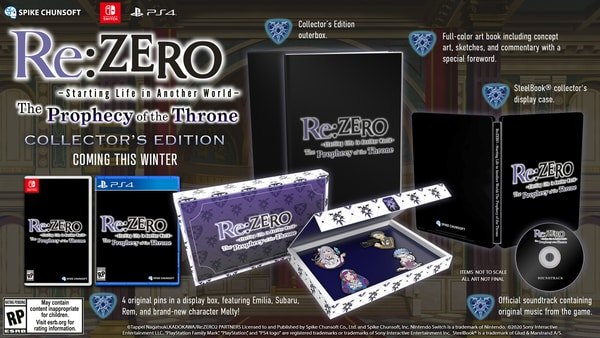 Re:Zero – The Prophecy of the Throne — Дебютный трейлер и физические издания