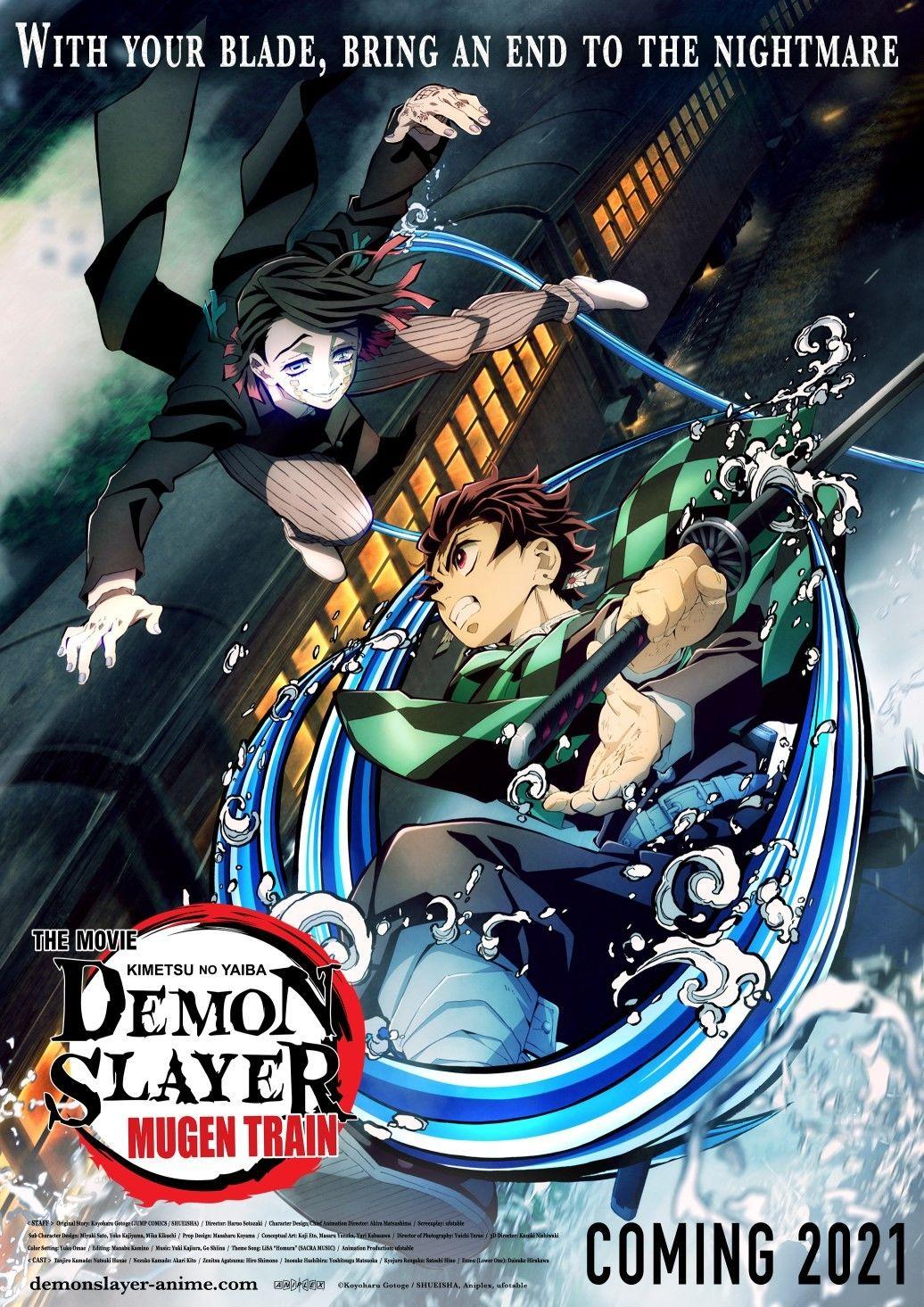 Трейлер Истребителя демонов Kimetsu no Yaiba  Бесконечный поезд с песней LiSA