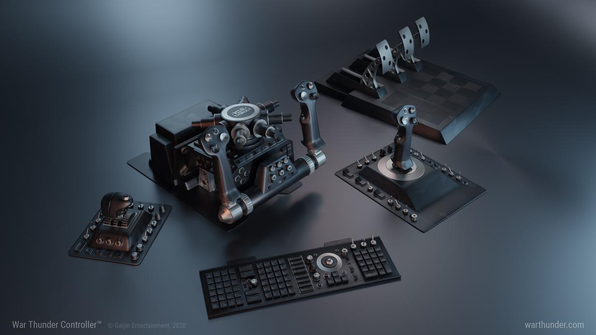 Компания Gaijin Entertainment представила уникальный контроллер для War Thunder