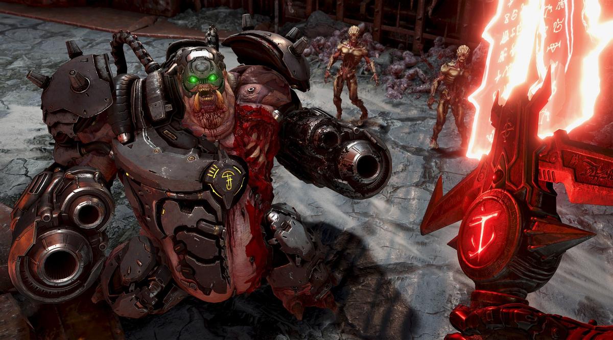 36kkshvDYB - Doom Eternal - Демоны и рунический меч на новых скриншотах