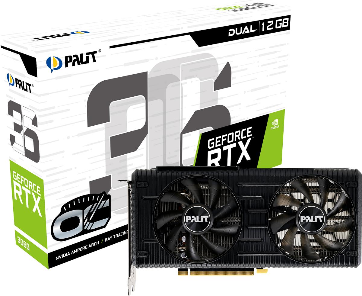Palit анонсирует графические карты GeForce RTX 3060 Dual и StormX