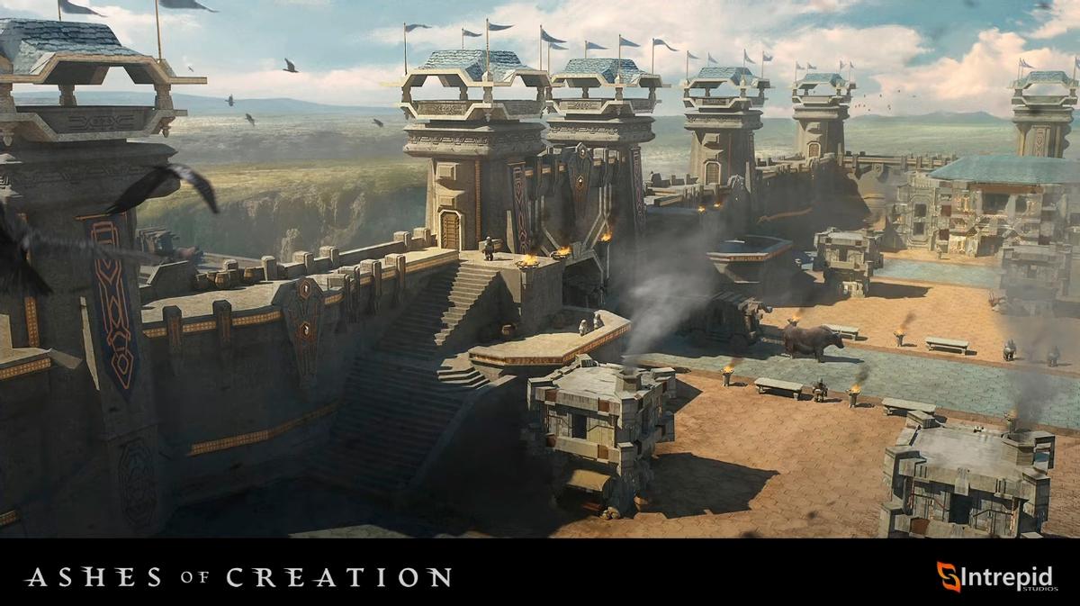 Ashes of Creation - Гибридная система боя и подробности про осады замков