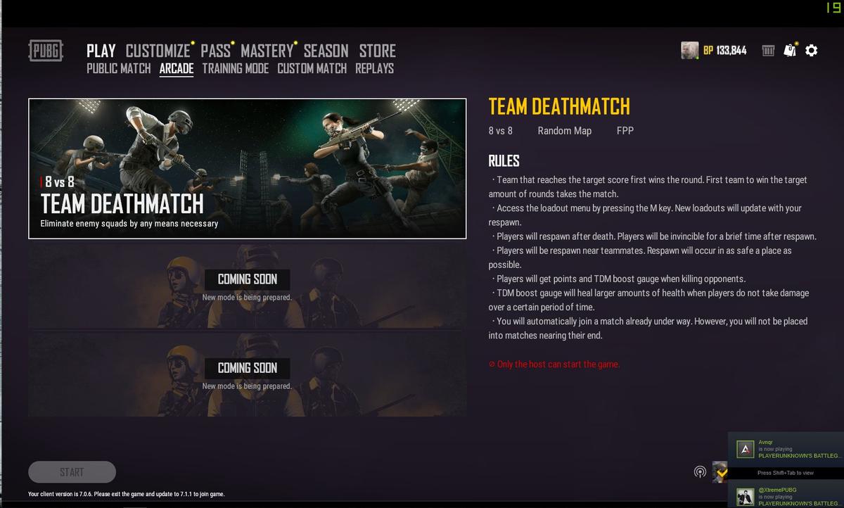 Режим Team Deathmatch для PUBG случайно запустили на живых серверах