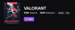 Valorant ворвался в топ Twitch. Внимание привлек первый турнир по игре