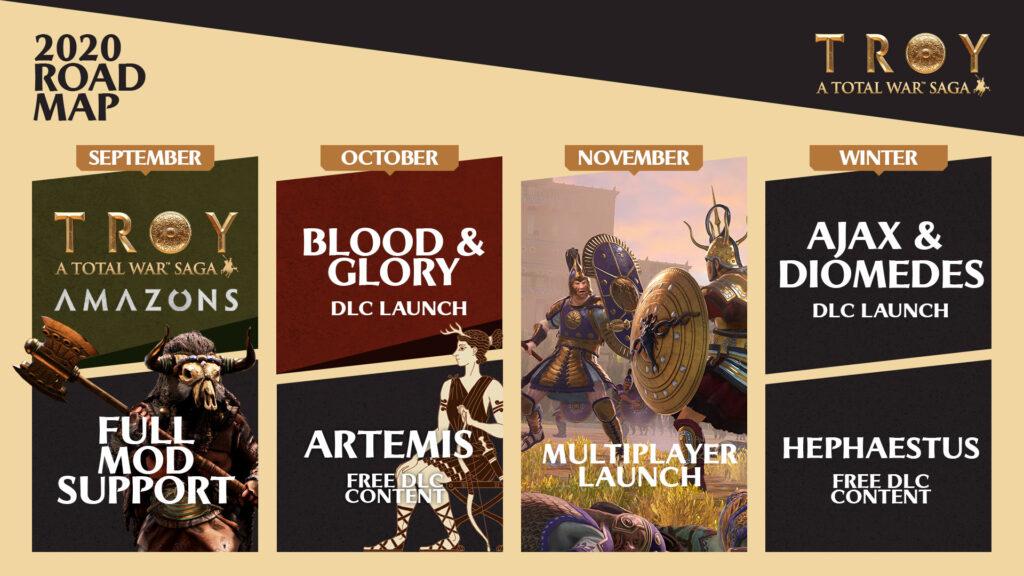 Total War Saga Troy  Мультиплеер в ноябре и дорожная карта