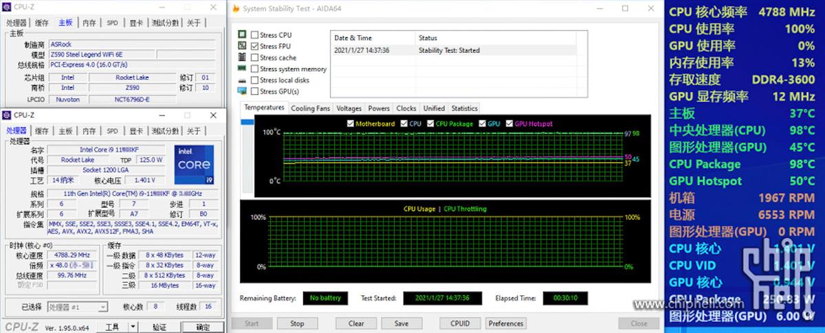 Утечка Intel Core i9-11900KF греется до 98 градусов и потребляет 250 Вт