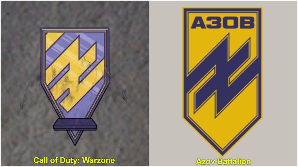 Спустя год в Warzone нашли эмблему батальона Азов