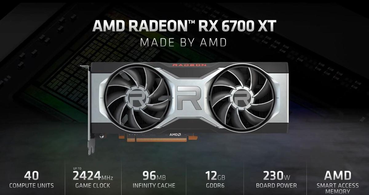AMD показала новую видеокарту Radeon RX 6700 XT, и она дешевле RTX 3070