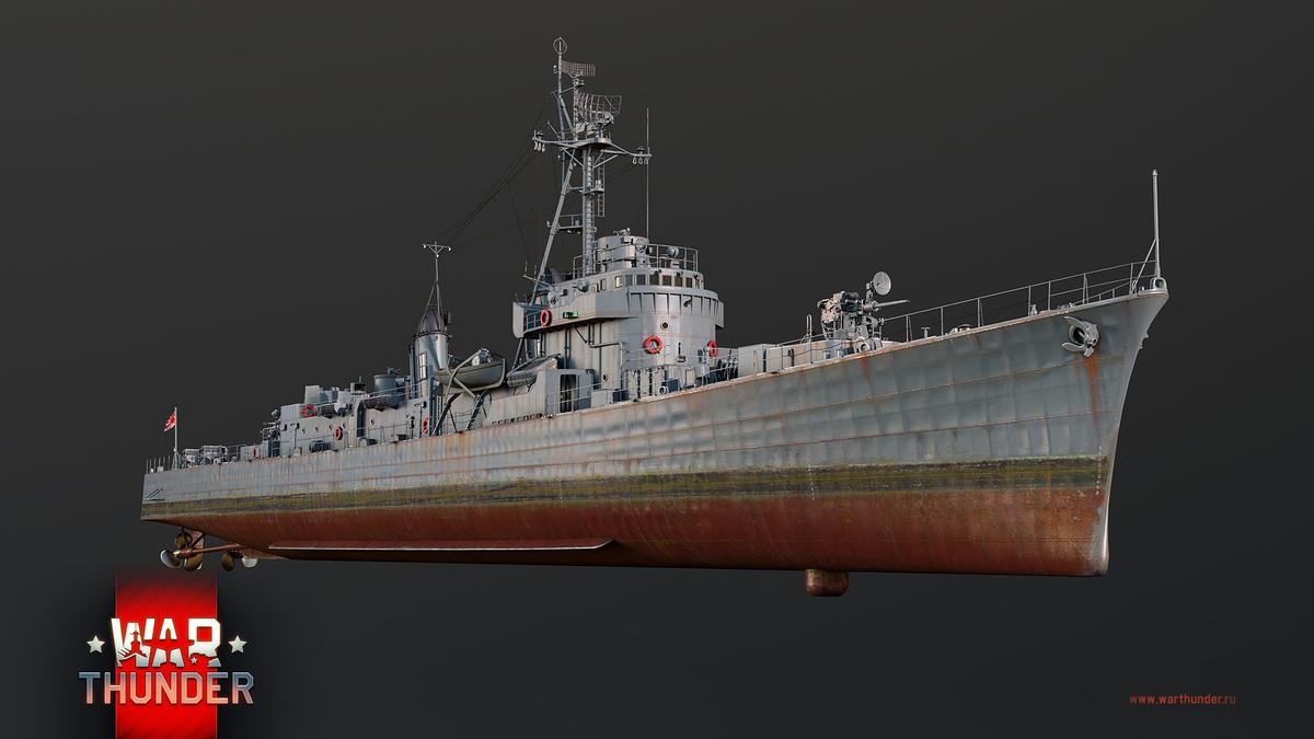 War Thunder - Японский эскортный эсминец и французский тяжелый танк