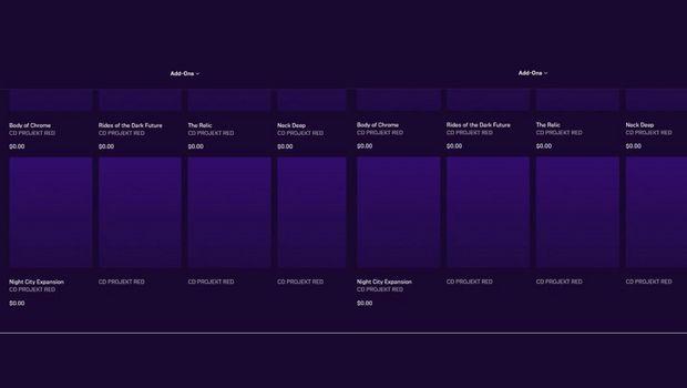 [Слухи] Cyberpunk 2077 — В Epic Games Store нашли упоминание десяти DLC, в том числе платных, Пока же на горизонте лишь патч 1.2