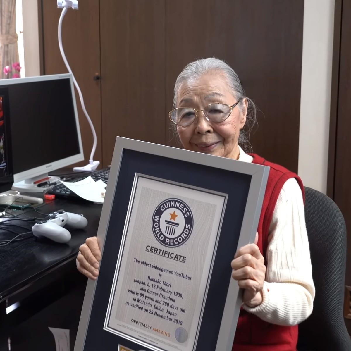 90-летний японский геймер и видеоблогер Мори Хамако попала в «Книгу рекордов Гиннеса»