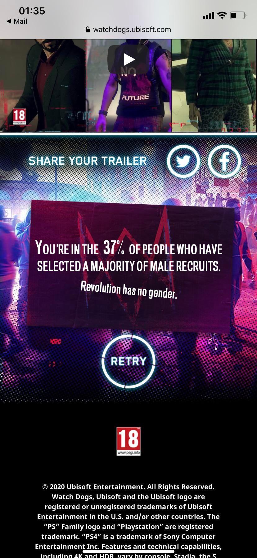 Ubisoft разослала сексистскую рекламу Watch Dogs Legion,.. направленную против мужчин