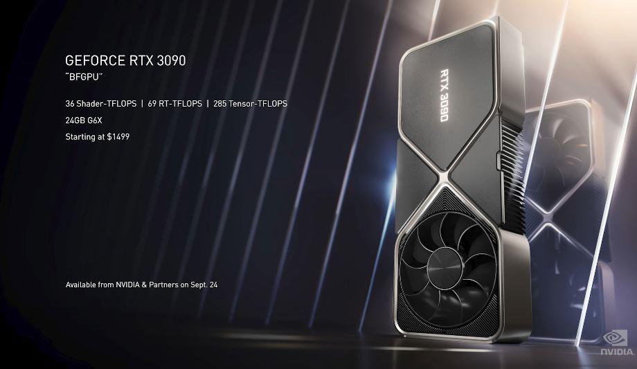 Новые видеокарты Nvidia RTX 3000 официально представлены