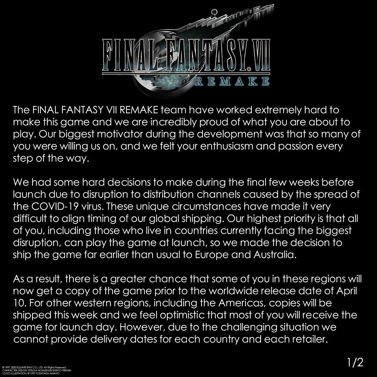 Final Fantasy VII Remake - Разработчики попросили игроков не спойлерить