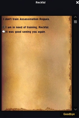 World of Warcraft - В Shadowlands появится тренер разбойников по имени Reckful