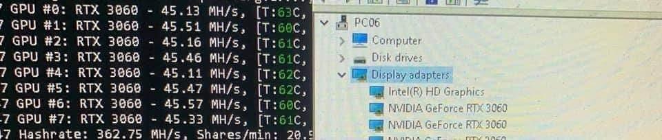 Обновлено Есть вероятность, что китайские майнеры смогли обойти ограничитель майнинга на RTX 3060