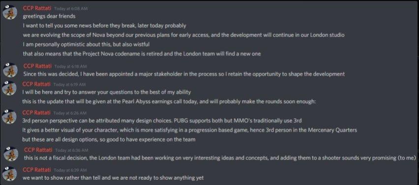 Project Nova — Разработка игры отменена, команду переводят на поддержку EVE Online