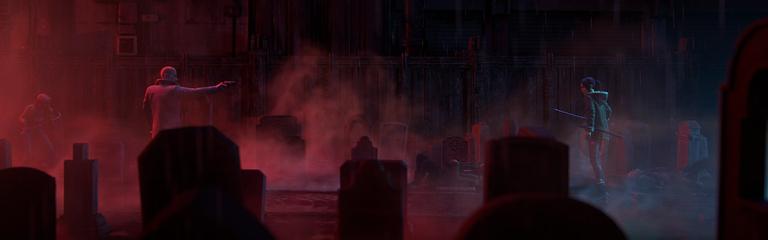 Первые кадры аниме Бегущий по лезвию Черный лотос от режиссеров Призрака в доспехах СО_2045