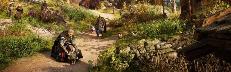 Assassins Creed Valhalla  Ubisoft выложила ролик с ласкающей киску Эйвор