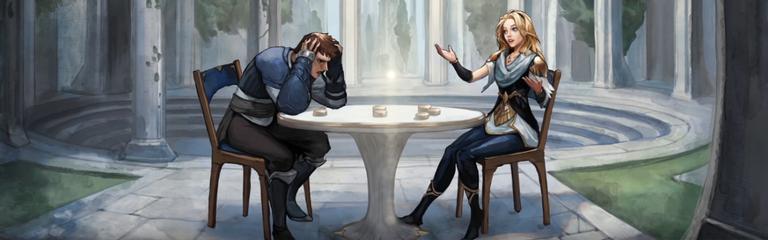 Tellstones Kings Gambit - Настольная игра из мира Рунтерра