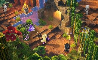 "Minecraft Dungeons - Релизный трейлер дополнения ""Jungle Awakens"""