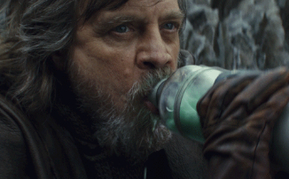 В Cyberpunk 2077 нашли рекламный баннер с пьющим молоко Люком Скайуокером