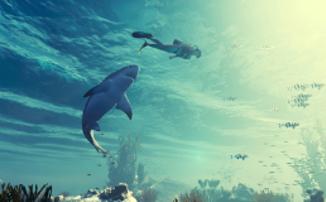 Maneater — 15 минут игрового процесса симулятора акулы-убийцы