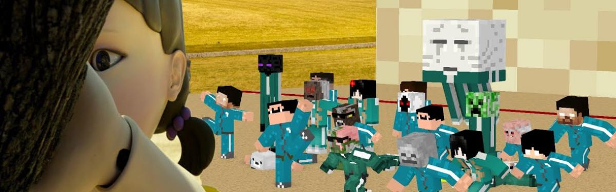 """Мододел перенес испытания из сериала """"Игра в кальмара"""" в Minecraft"""