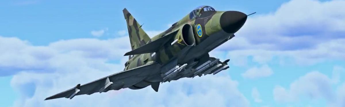 """Шведские """"реактивы"""" JA37 и J35A в патче """"Точно в цель"""" к War Thunder"""