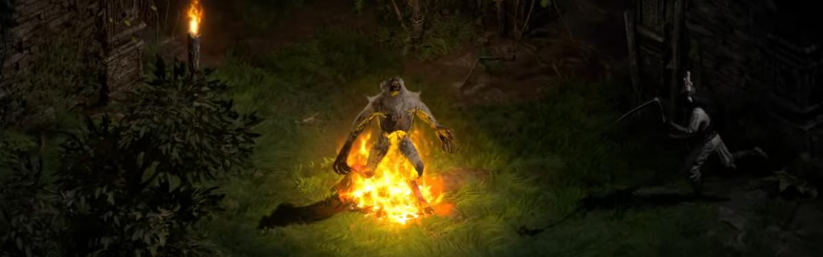 Друид в пятом ролике персонажей Diablo II: Resurrected