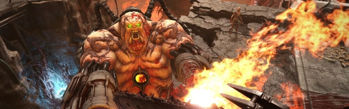 [gamescom 2019] DOOM Eternal — DOOM Hunter пытается пустить протагониста на шашлык в новом трейлере