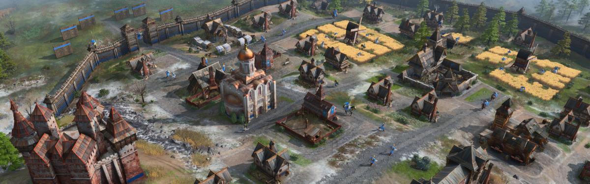 Русь против Священной Римской империи в полной записи матча Age of Empires IV