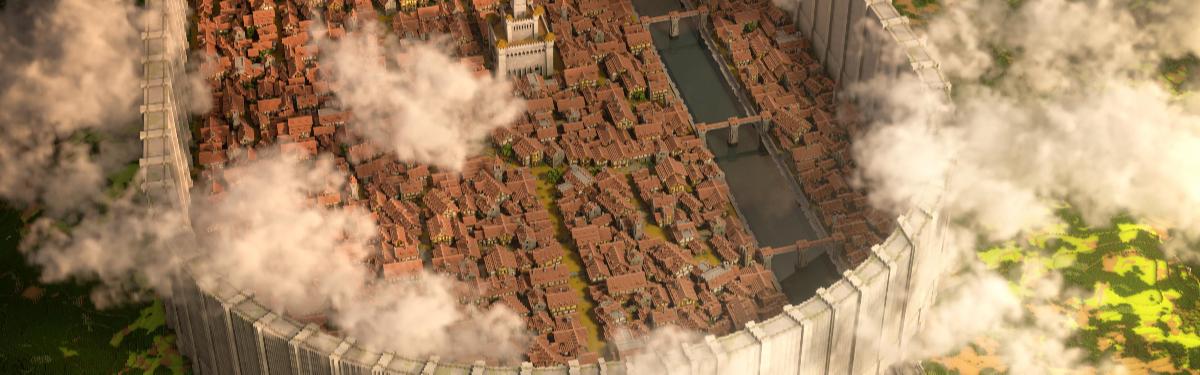 """В Minecraft игроки построили город из """"Атаки Титанов"""" в масштабе 1:1"""